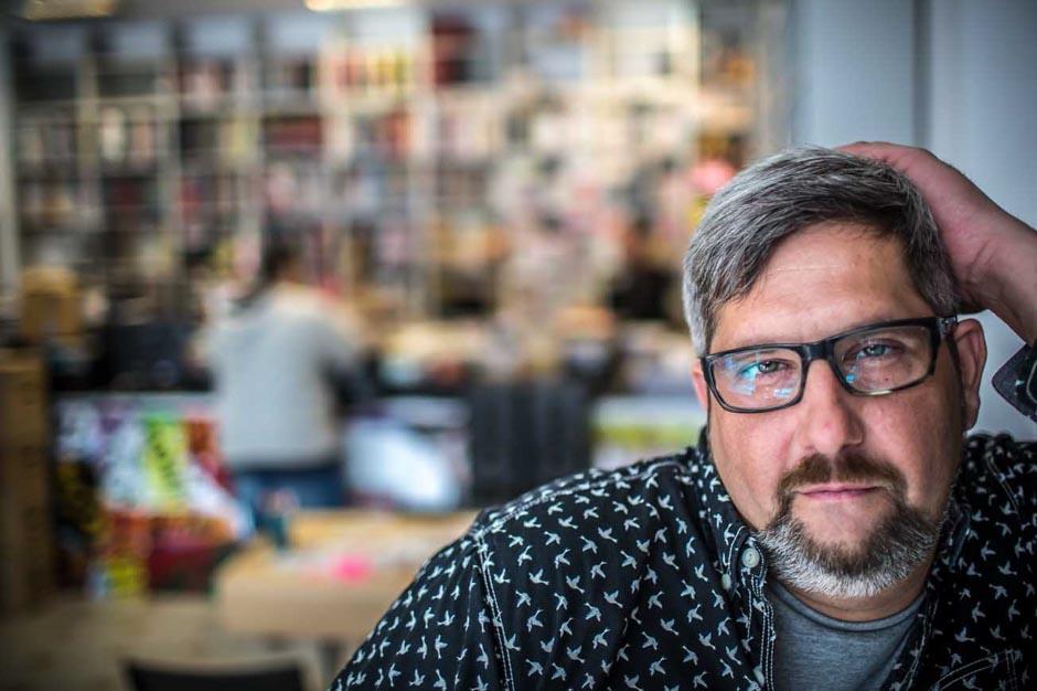 Łódź Centrum Komiksu , Adam Radoń fot.Dariusz Kulesza